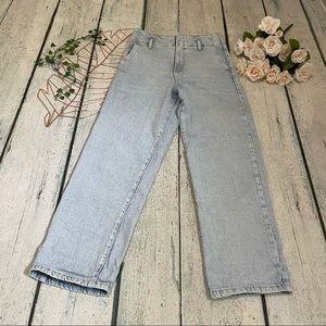 Dynamite Tyra 26 jeans denim light wash high waisted straight leg modern vintage